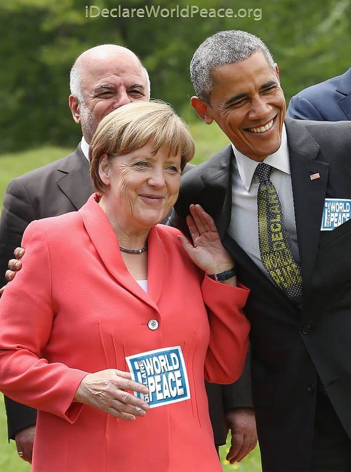 Merkel / Obama - I Declare World Peace #IDWP