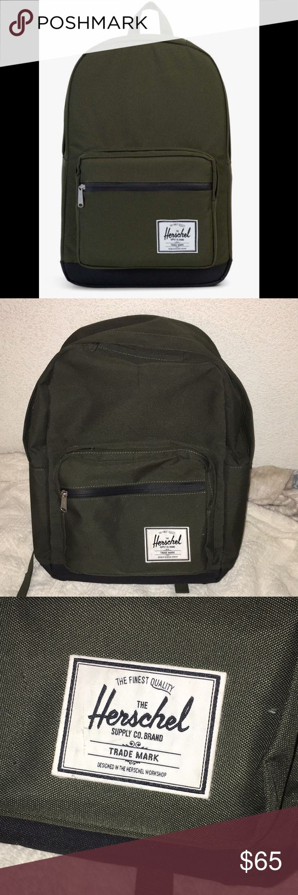 Olive Green Herschel Pop Quiz Back Pack (Unisex) Item: • Olive Green back pack Price: •$65 •ALWAYS negotiable 😊 Condition: •Like New!!  Brand: •Herschel  Description: • Like New Back pack •Has multiple compartments •75$ worth!!  •has a sunglasses compartment •Original!!  Size: •One Size •Message me if you have any questions Herschel Supply Company Bags Backpacks
