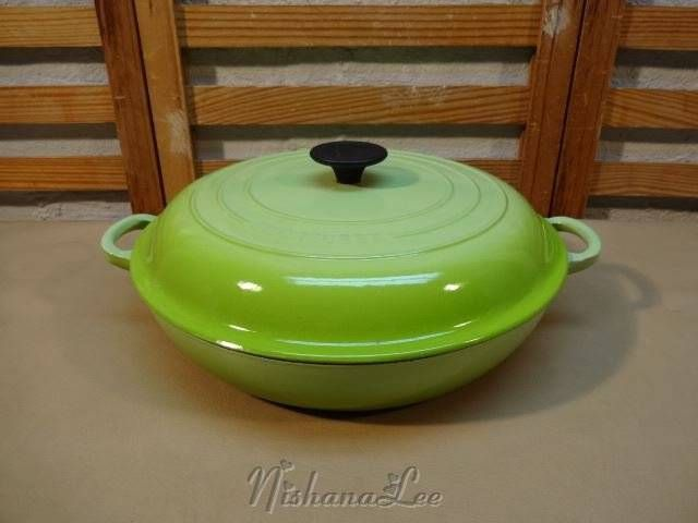 Le Creuset Cleaning Stains : Discontinued kiwi green le creuset enameled cast iron