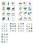 Визуальное расписание очень важно для ребенка с особенностями. Оно помогает сделать каждый день предсказуемым и структурированным. Следуя расписанию, ребенок становится более организованным и успешным. В данном пособии мы собрали 8 листов карточек, подходящих как для составления визуального расписания, так и в качестве средства общения для невербальных детей.
