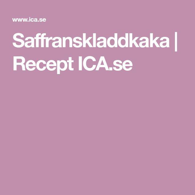 Saffranskladdkaka | Recept ICA.se