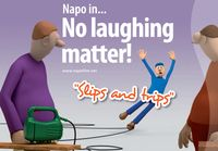 Those Europeans....Napo's latest film stimulates awareness of slips and trips at work — Safety and Health at Work - EU-OSHA