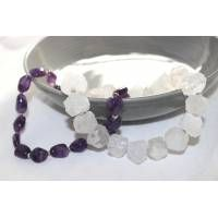 Amethyst Nugget Necklace in Cadbury purple. They made it look stunning