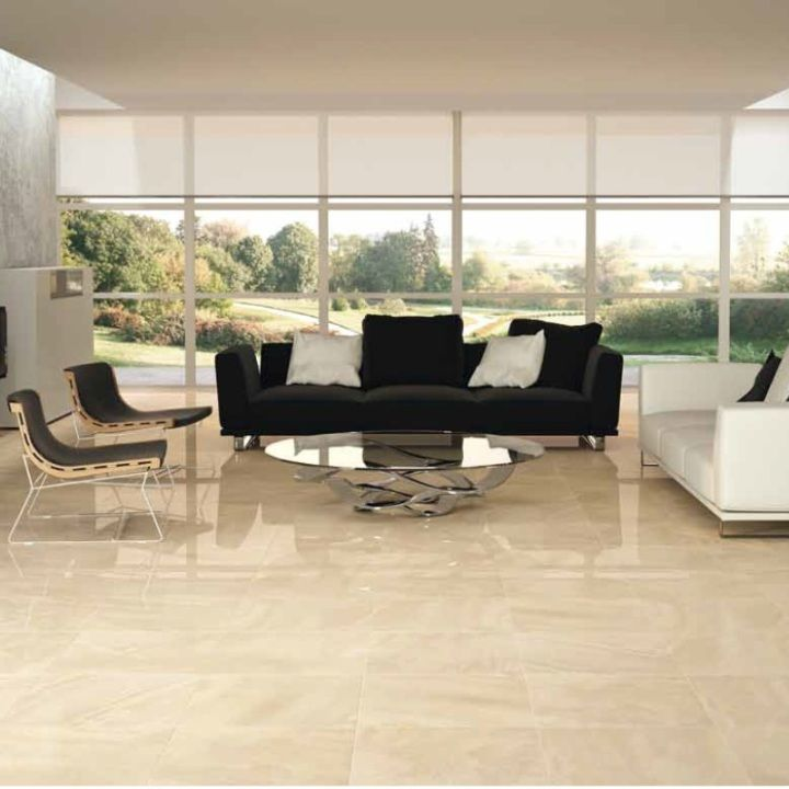 These Cream Gloss Floor Tiles In A Large Format Are Ideal For Living Room  Or Kitchen Part 54