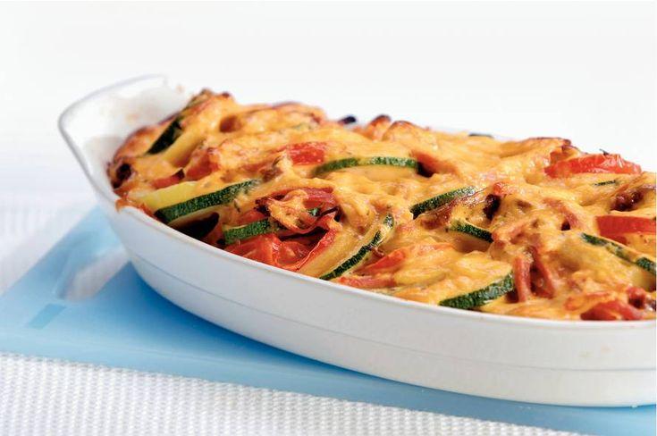 Ovenschotel met boursin en ham - Recept - Allerhande