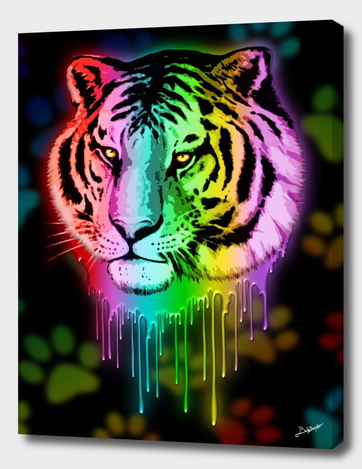 NEW on #BluedarkArt's #Art #Shop on #Curioos - #Tiger #Neon #Dripping #Colors - #Canvas #Prints   https://www.curioos.com/product/canvas/tiger-neon-dripping-rainbow-colors   @Curioos