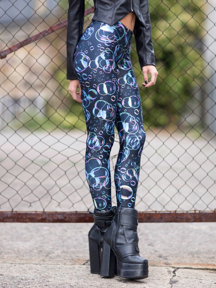 Bubbles Leggings - LIMITED (US ONLY $60USD) by Black Milk Clothing