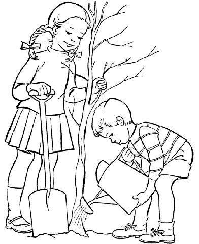 Okul Bahçesi: Orman Haftası * Boyama