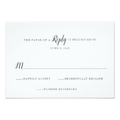 Classic Traditional Wedding RSVP Template - classic gifts gift ideas diy custom unique
