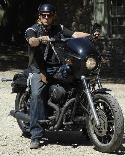 Jax Teller and his Harley Dyna Super Glide Sport