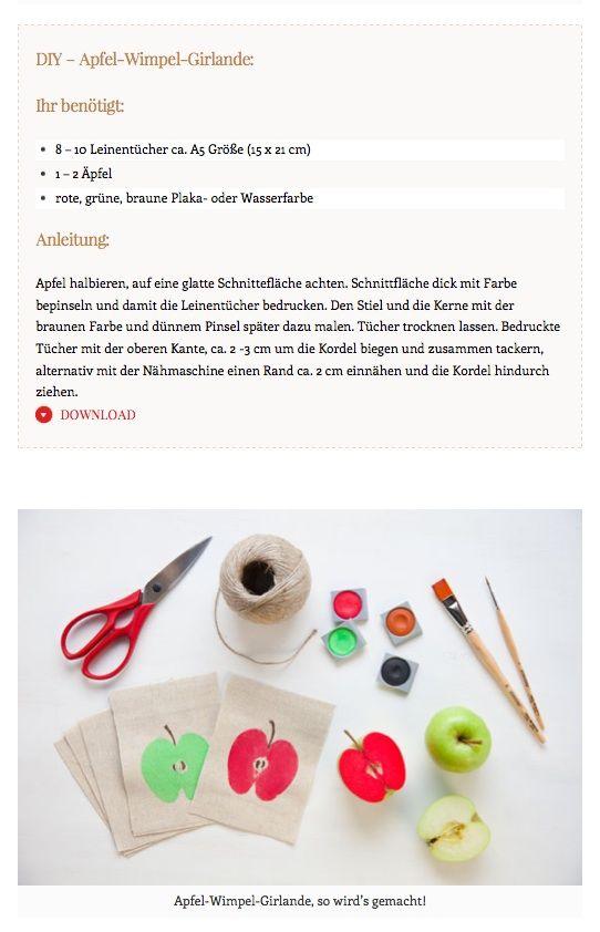Apfel-Wimpel-Girlande