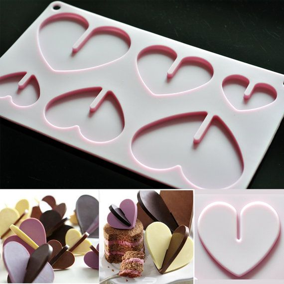 Silicone Chocolate Mold Candy Molds - 3D Heart Sheet Chocolate Sheet Mold op Etsy, 4,48 €