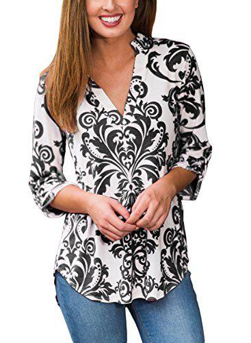 Happy Sailed Women New Print V neck Casual Cuffed Sleeves... https://www.amazon.com/dp/B0721W4M57/ref=cm_sw_r_pi_dp_x_I5N4zbM6DSVV1