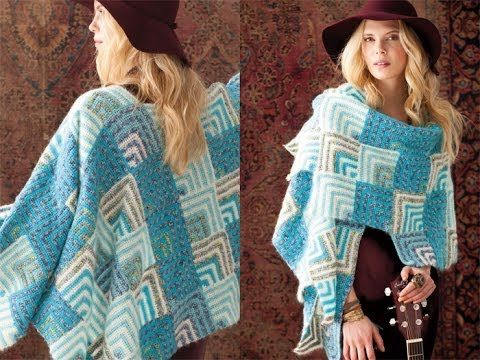 #35 Mitered Shawl, Vogue Knitting Crochet 2012 - YouTube