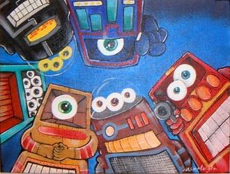 RWA Robots With Attitude.: Painting