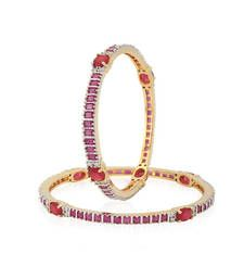 Buy Red Cubic Zirconia bangles-and-bracelets bangles-and-bracelet online