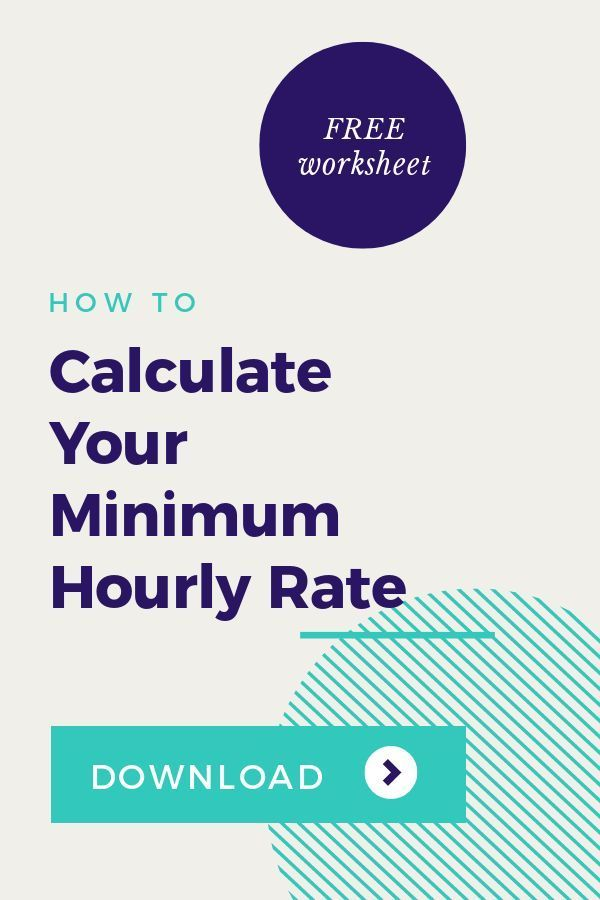 How To Calculate Your Minimum Hourly Rate For Freelancers Freelance This Or That Questions Worksheets Free