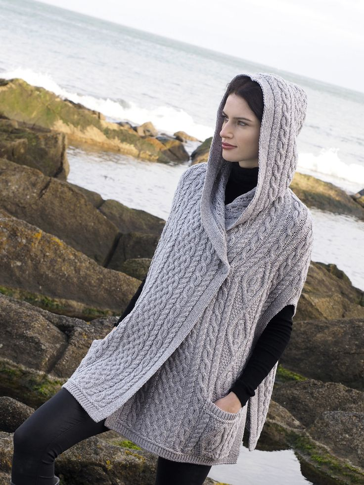 Ladies Hooded Cape by Natallia Kulikouskaya for Aran Crafts of Ireland