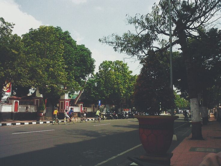Street in my city. Indonesia