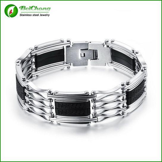 (10 pieces/lot) Hollow bracelet chain 316l stainless steel chain bracelet for men AW0121