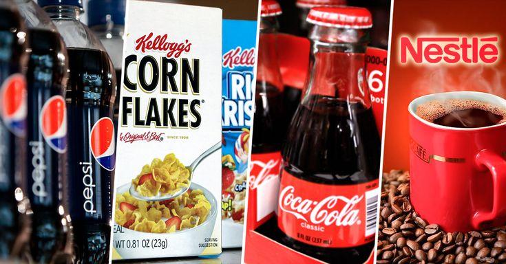 Sólo 10 compañías controlan casi toda las empresas de alimentos y bebidas en el mundo.