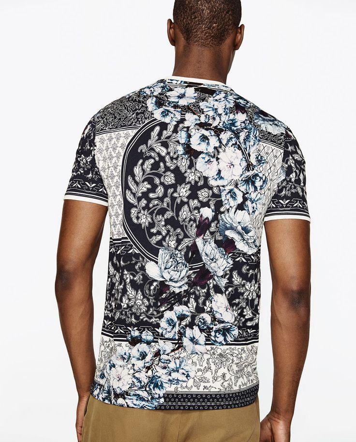 Imagine 3 din TRICOU CU IMPRIMEU CU FLORI de pe Zara