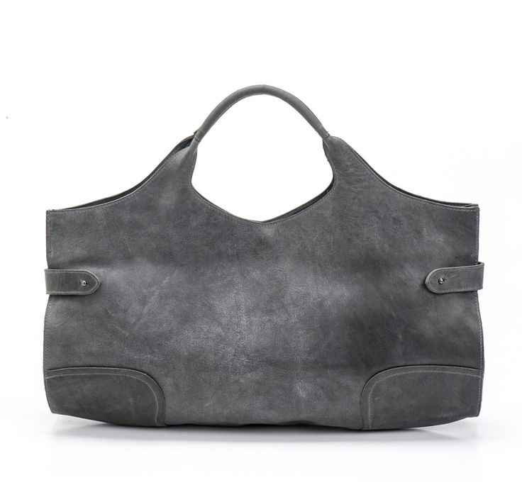 Grey Leather Tote Bag / Women Handbag / Office Bag / Cross Body Bag / Shoulder Bag / Messenger Bag / Leather Purse / Every Day Bag -  Adel