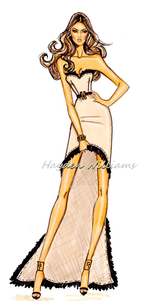 Hayden Williams for Modelinia: Color Me Model: Hayden Williams Animates Our Favorite Girls! Alessandra Ambrosio.