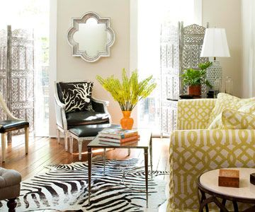 House Tours: An Eclectic, Yet Elegant Home. Animal Print RugZebra ...