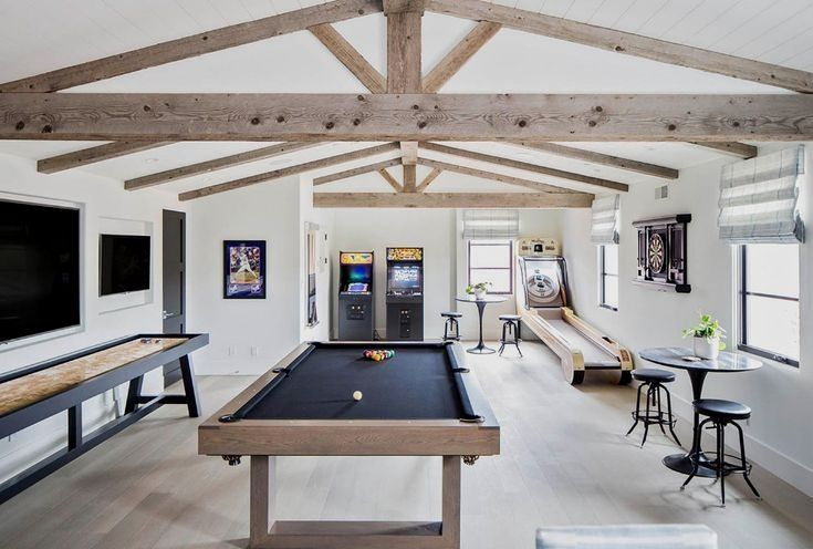 15 Loft Room Ideas That Will Give You Extra Floor Space 2021 Ver Archiparti International Limited In 2020 Farm House Living Room Garage Game Rooms Game Room Design