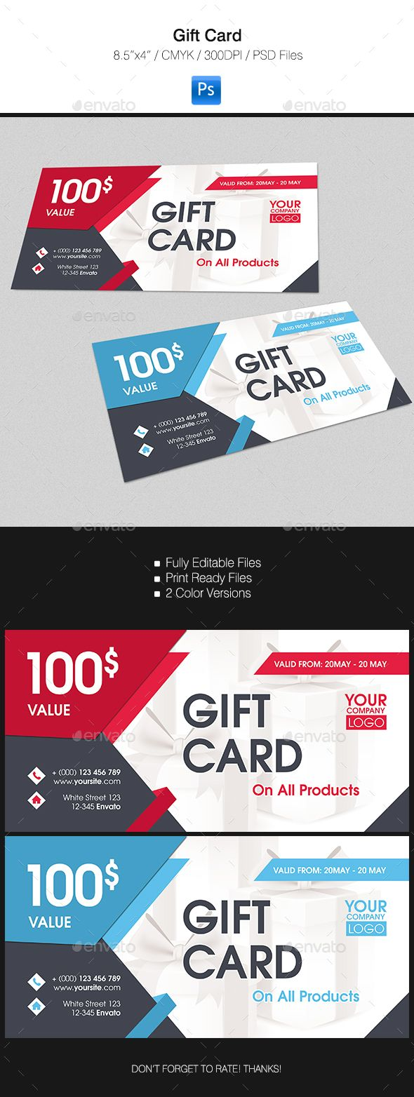 Gift Card #design Download http://graphicriver.net/item/gift-card/15394426