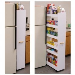 Rolling 'pantry' for small homes from Stacks and Stacks!