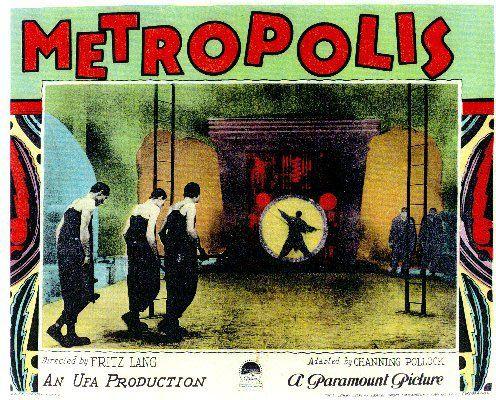 Metropolis Fritz Lang 1927 Film Archive - Bibliography - Introduction. Brigitte Helm, Gustav Frolich, German Silent Film, Expressionism, 1927, Robot, Science-fiction, Thea von Harbou.
