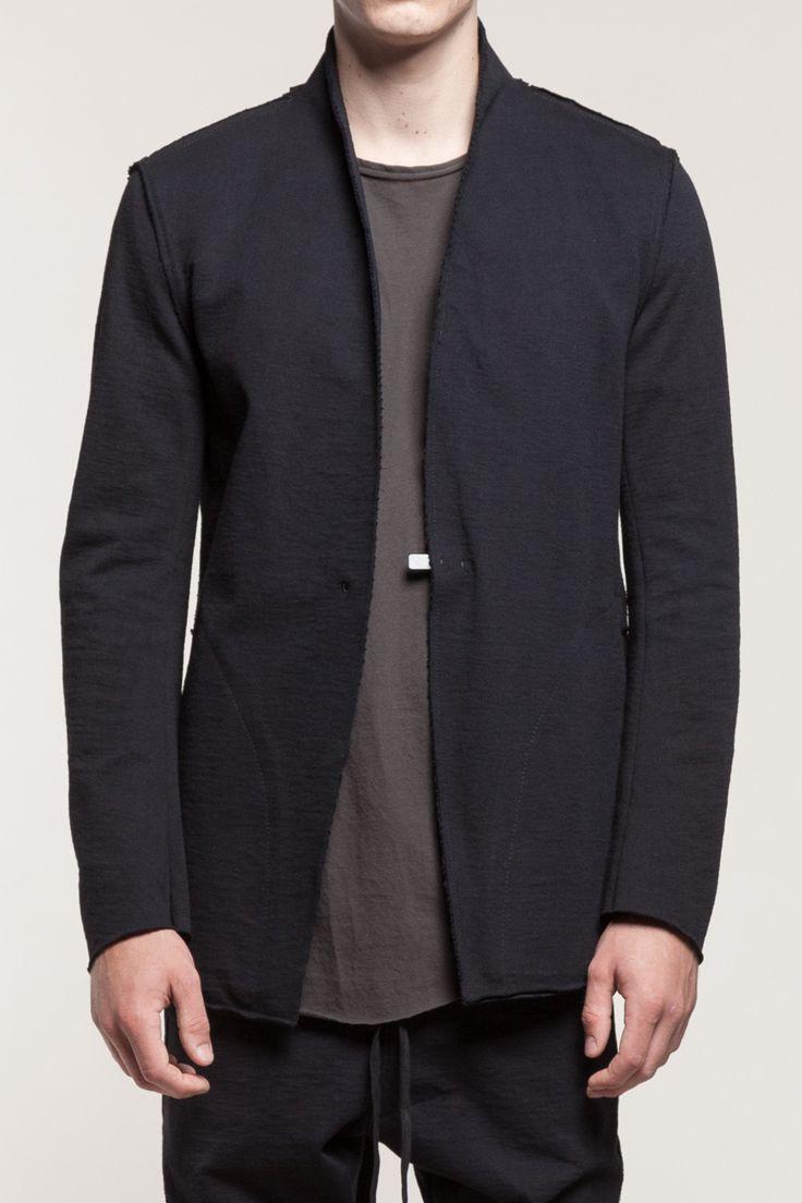 Raw Raised Neck Jacket (Black) </br> S/S 15