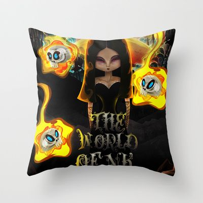 The World Of NK Throw Pillow by MikiMikibo - $20.00