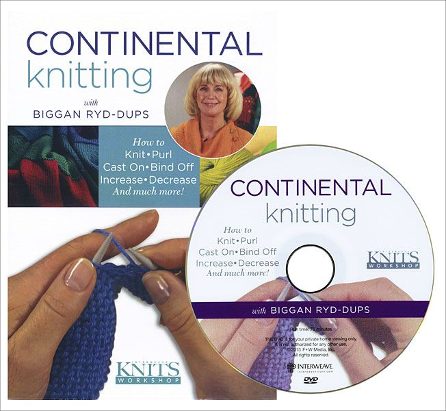 Knitting Tips By Judy : Images about knitting continental style on