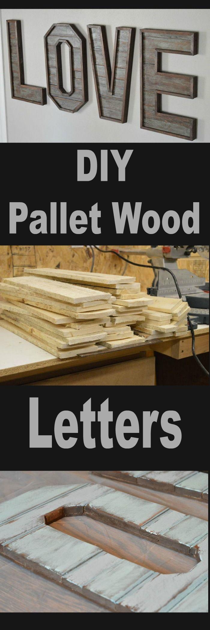 DIY Pallet Wood Letters
