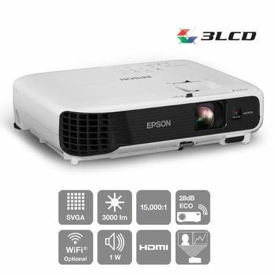 EPSON EB-S04 Vidéoprojecteur SVGA HDMI - Technologie 3LCD et niveaux élevés et équivalents de luminosité blanche et couleur - Taux de contraste 15 000:1 ...