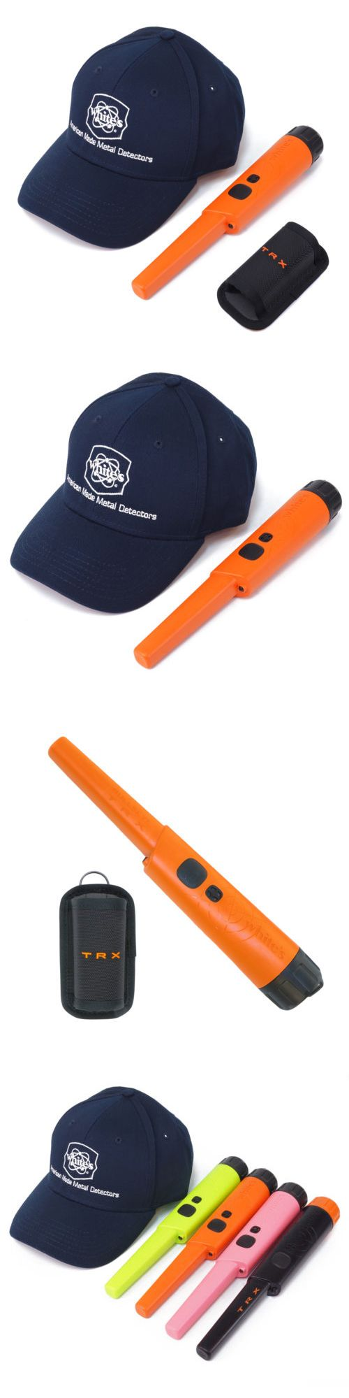 Metal Detectors: Whites Bullseye Trx Pinpointer Pin Pointer Orange W Holster And White S Navy Hat -> BUY IT NOW ONLY: $149.95 on eBay!