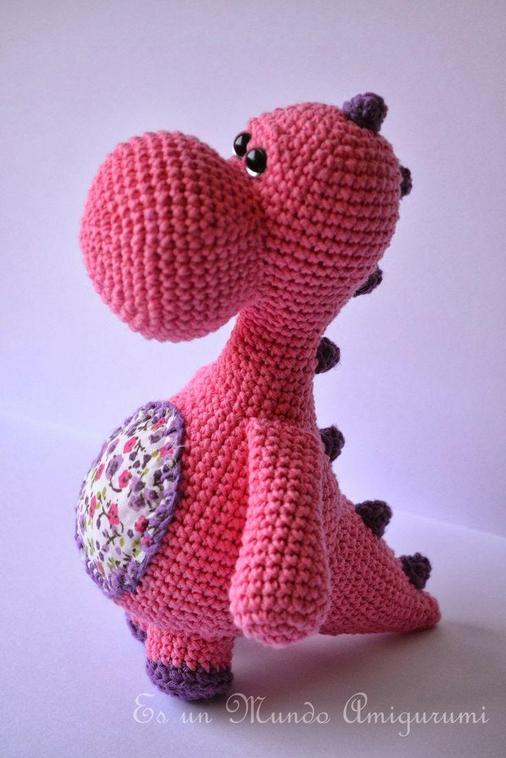 Tutorial Amigurumi Dinosaurio : Mas de 1000 ideas sobre Patrones De Crochet De Dinosaurios ...