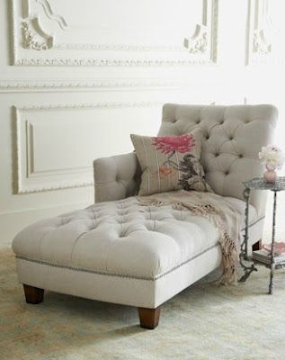 French Furniture. Another chaise lounge. Want one of these for my master bedroom--reading nook!