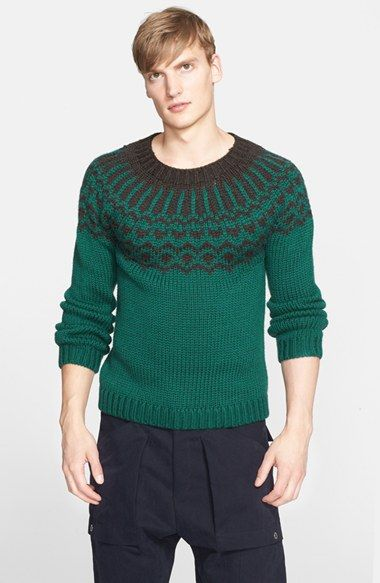 Umit Benan Fair Isle Wool Sweater available at #Nordstrom
