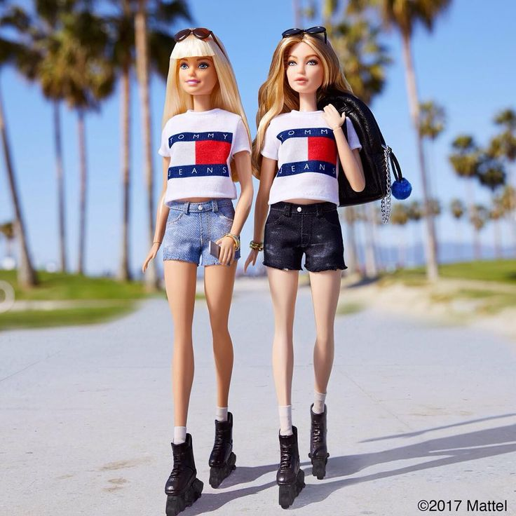 """Rolling into Venice with my girl @gigihadid! Only one day until her second collection for @TommyHilfiger debuts and much to do before then! "" from Barbie Style on Instagram. Gigi Hadid doll most likely a One of a Kind (OOAK)."
