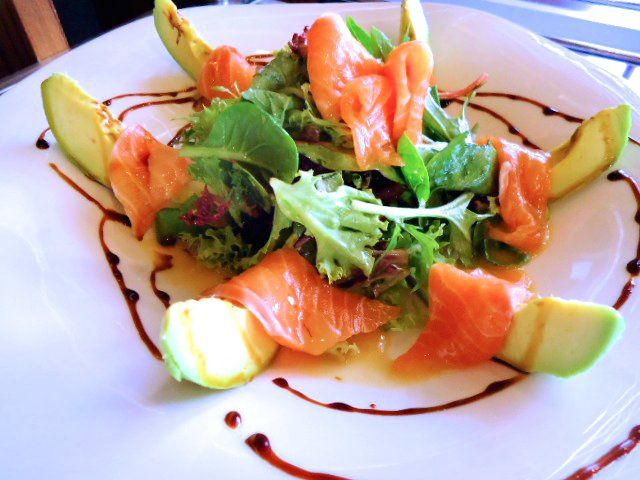 Salmon and Avocado Salad - Fuku Restaurant in Sydney.
