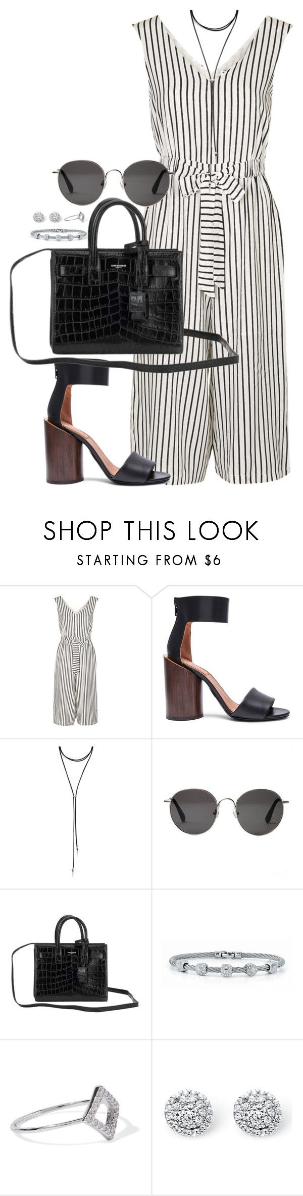 """#"" by bruna-linda-12 on Polyvore featuring moda, Topshop, Givenchy, Forever 21, The Row, Yves Saint Laurent, Alor, Noir Jewelry e Palm Beach Jewelry"
