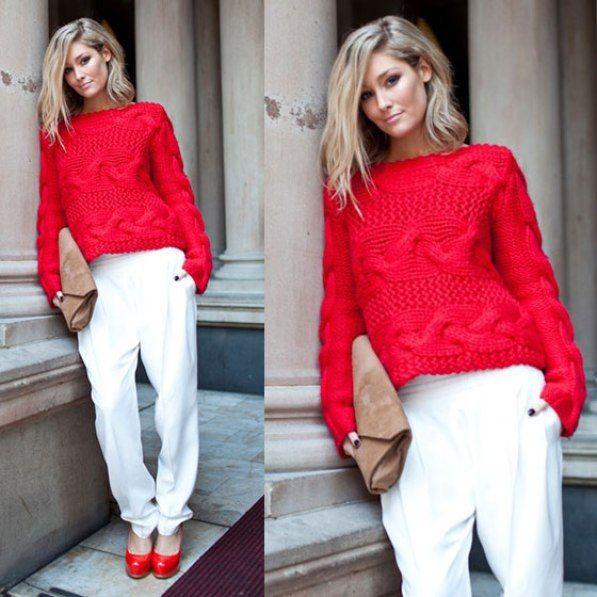 Blusa Trico Vermelha