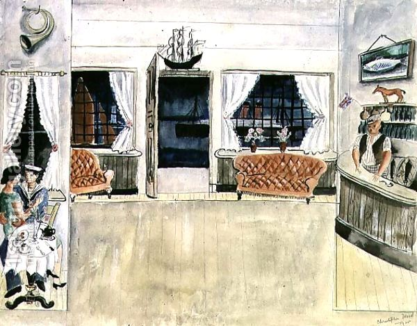 The Bar of the Ship Inn, St. Ives (1925) by Christopher Wood
