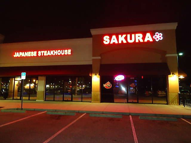Sakura Japanese Steakhouse 10722 Big Bend Rd.  Riverview, FL 33579 (813) 671-2388 They offer a wide array of Japanese dishes, such as Chicken Teriyaki, Vegetable Tempura, Tuna Sushi, California Roll, Edamame, and Miso Soup. Try our food and service today. Come in for a Japanese Lunch Special. You can also online order your favorite Japanese food for take out. Great Hibachi Restaurant- excellent food!