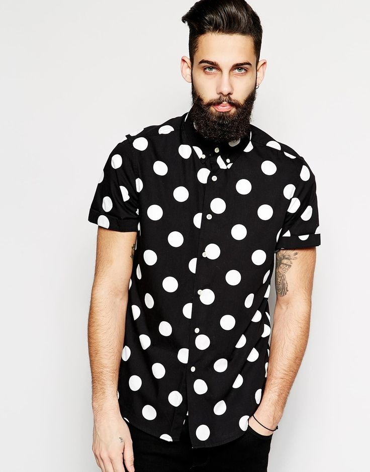78 images about men 39 s fashion on pinterest billionaire for Mens polka dot shirt short sleeve