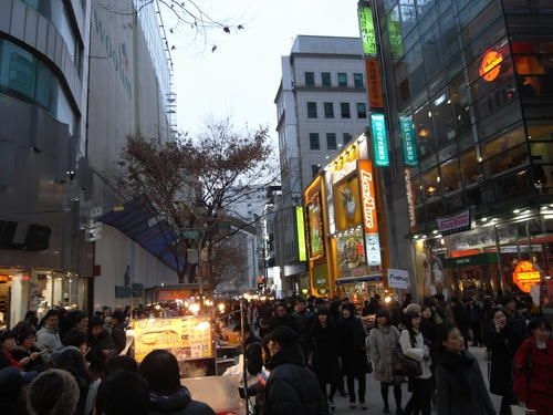 Day 4- Myeongdong Street The main street in Myeongdong is lined with quality brand name shops, food,snack,and many more #AviaPromo #Travelling #Holiday